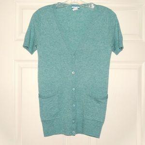 J. Crew 100% Cashmere Short Sleeve Cardigan S
